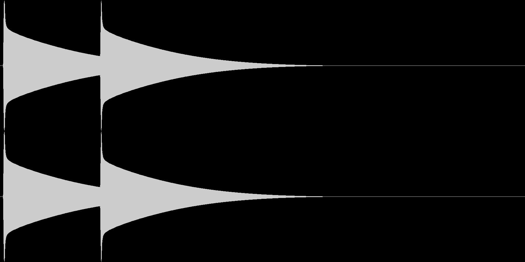ピーンポーン(インターフォン)の未再生の波形