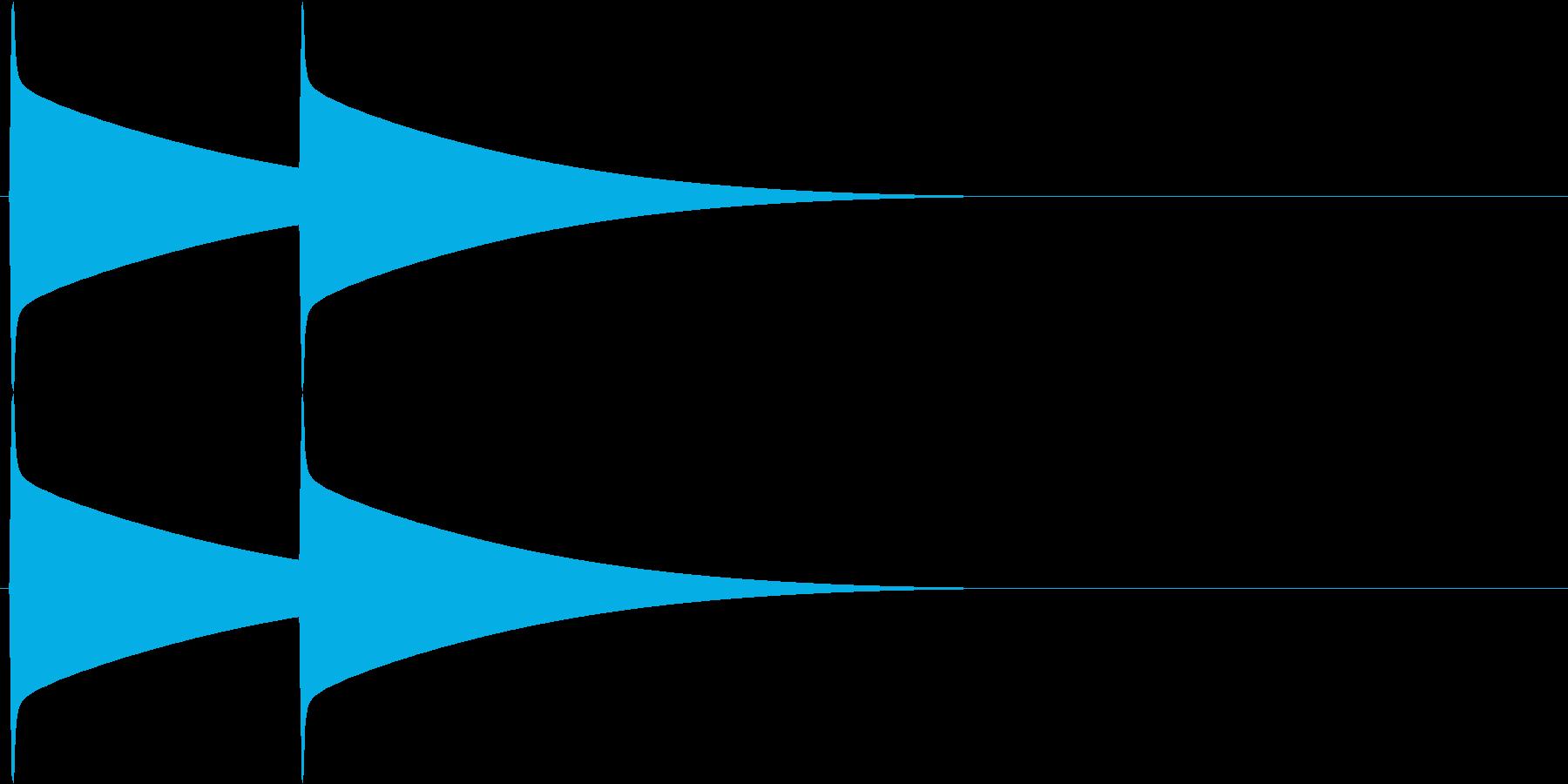 ピーンポーン(インターフォン)の再生済みの波形