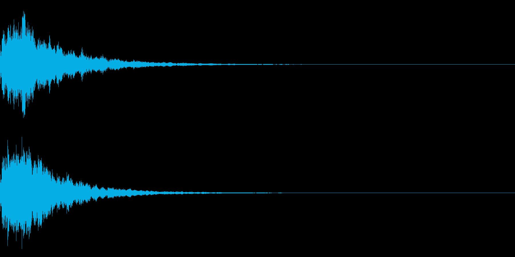 明るいテロップ音 ボタン音 決定音!02の再生済みの波形