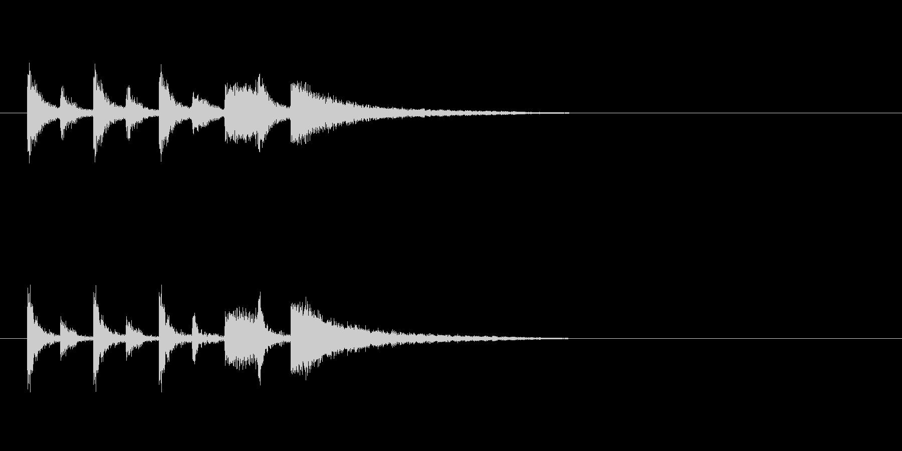 ステージクリア時の軽快なジングル1の未再生の波形
