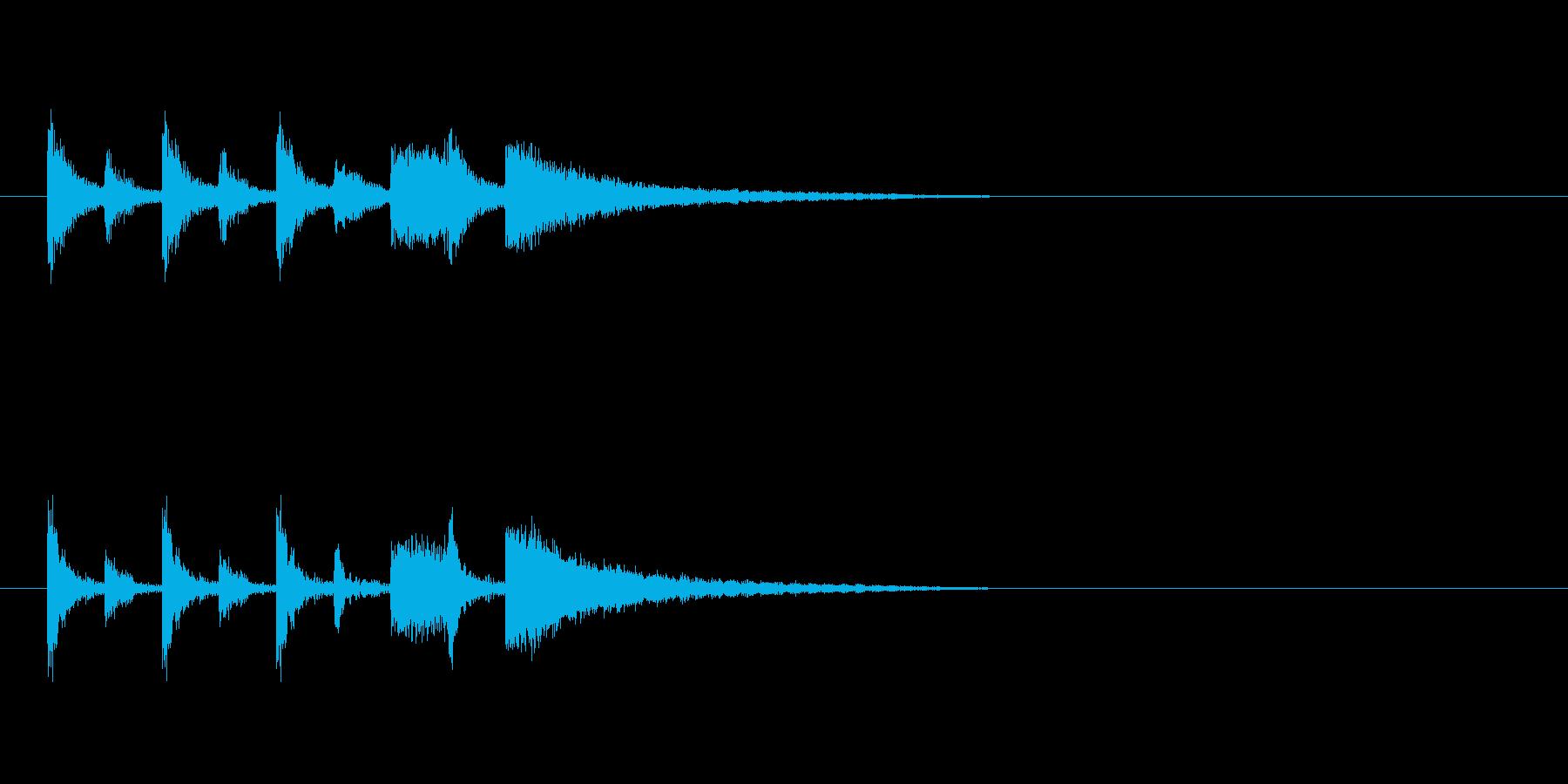 ステージクリア時の軽快なジングル1の再生済みの波形