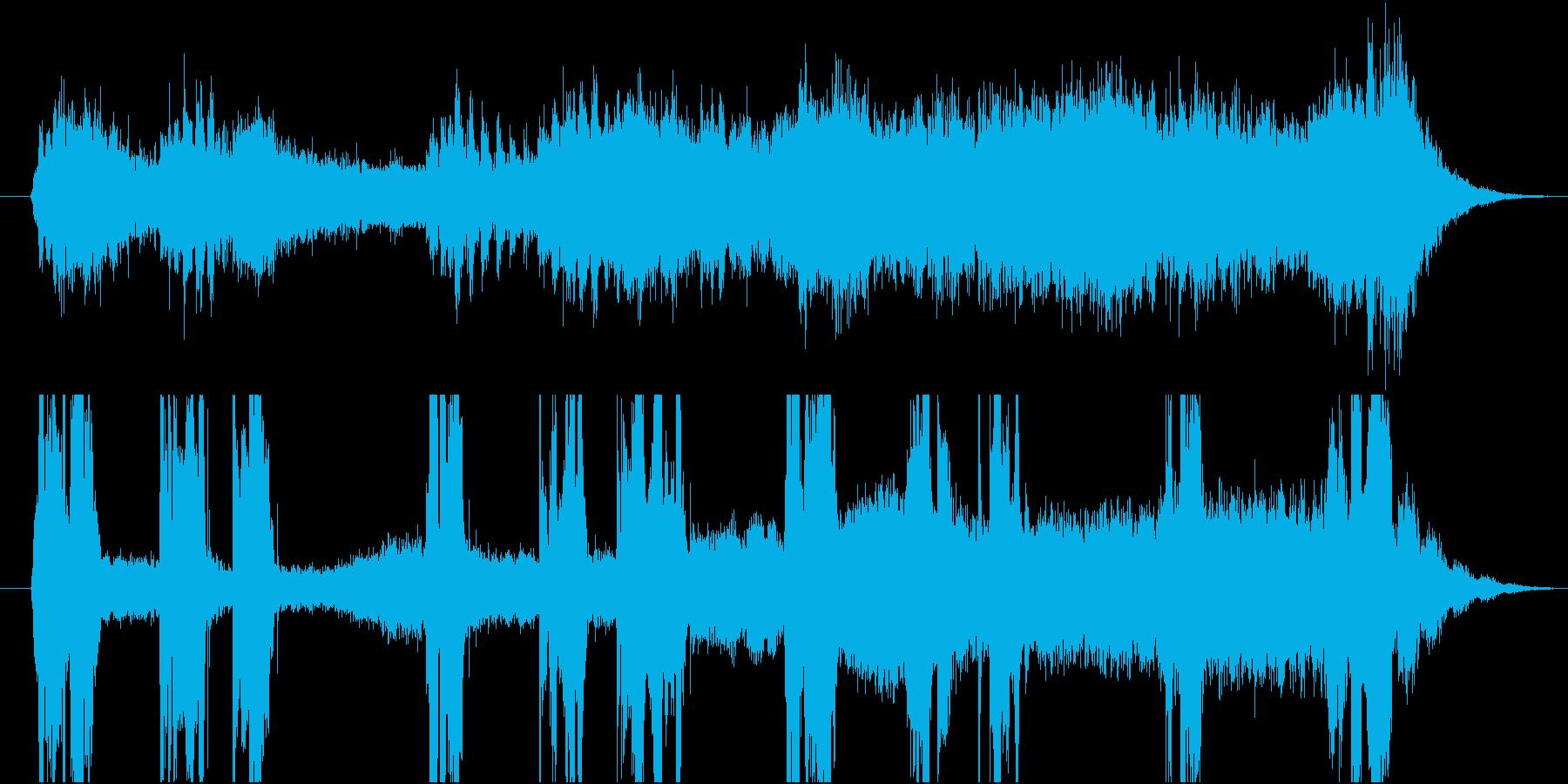 かっこいい英語でのオープニングSE OPの再生済みの波形