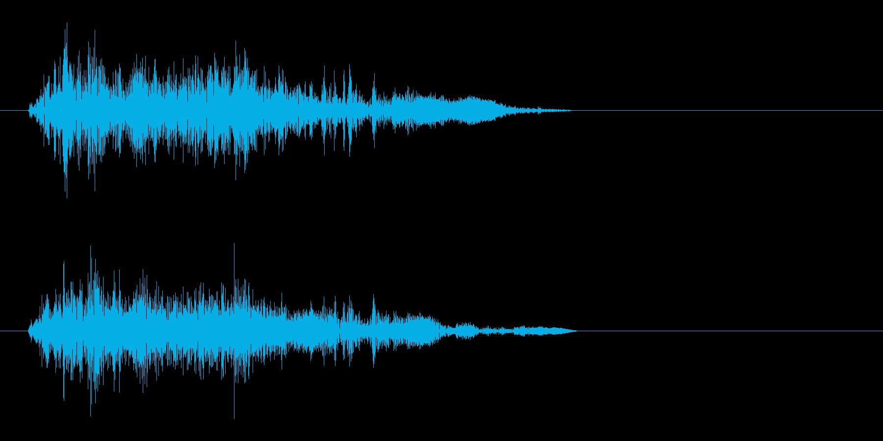 ジャシャッ(物音)短めの再生済みの波形