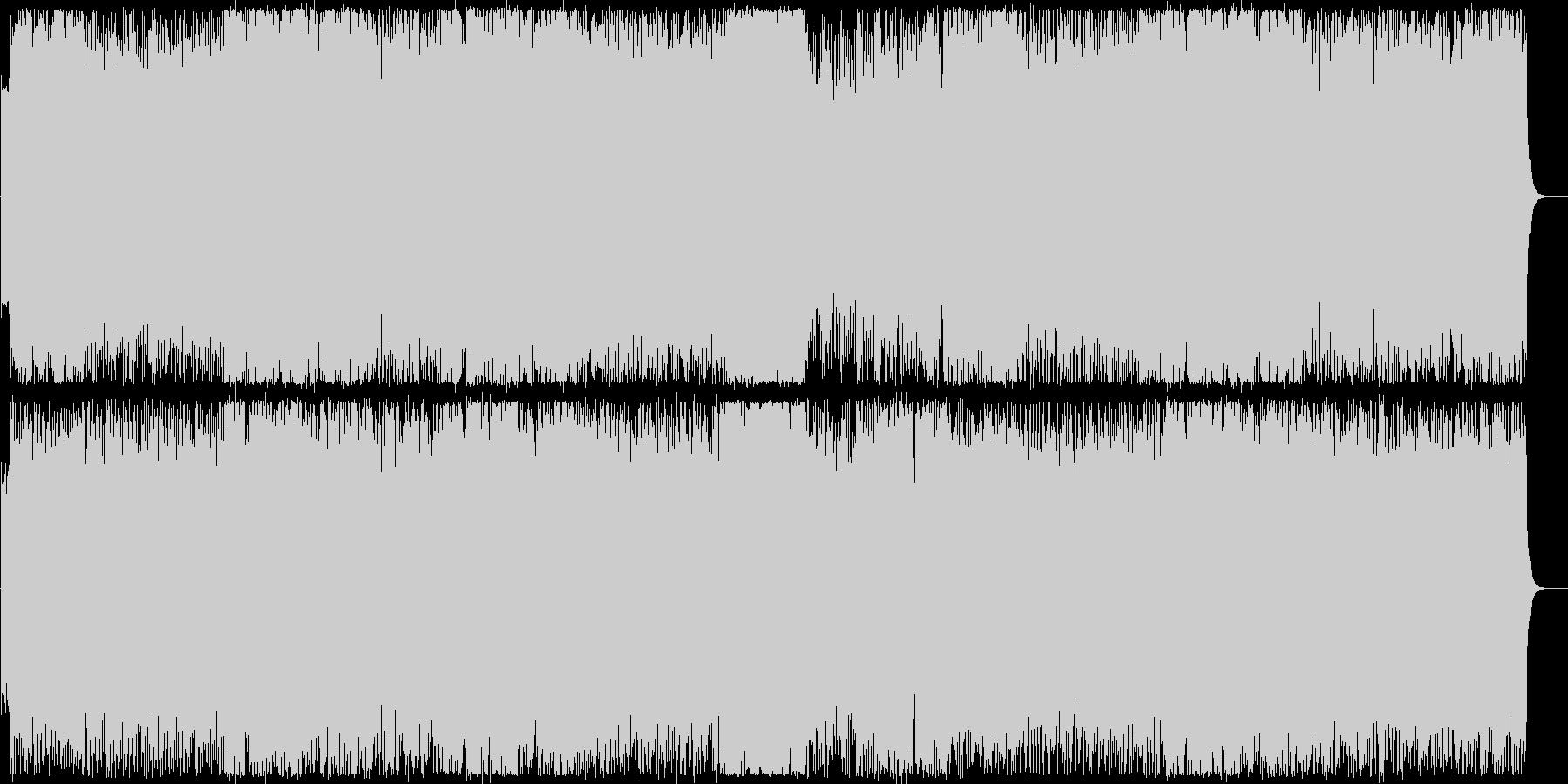 ワイルドでスピーディーなエレキロックの未再生の波形