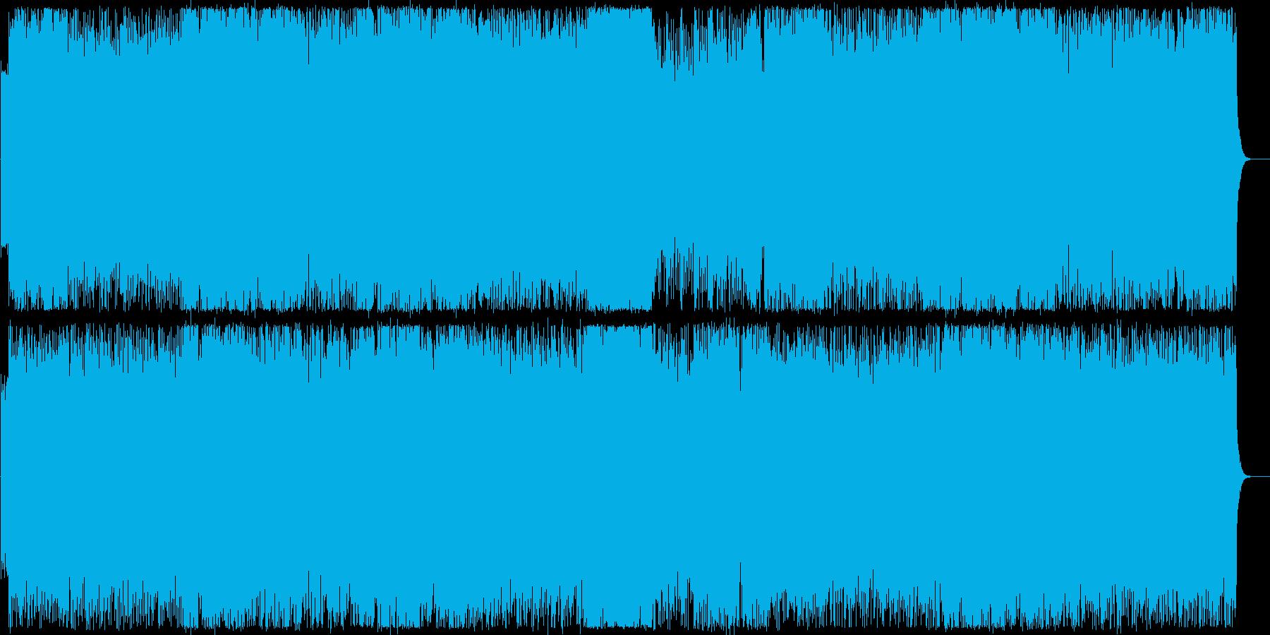 ワイルドでスピーディーなエレキロックの再生済みの波形