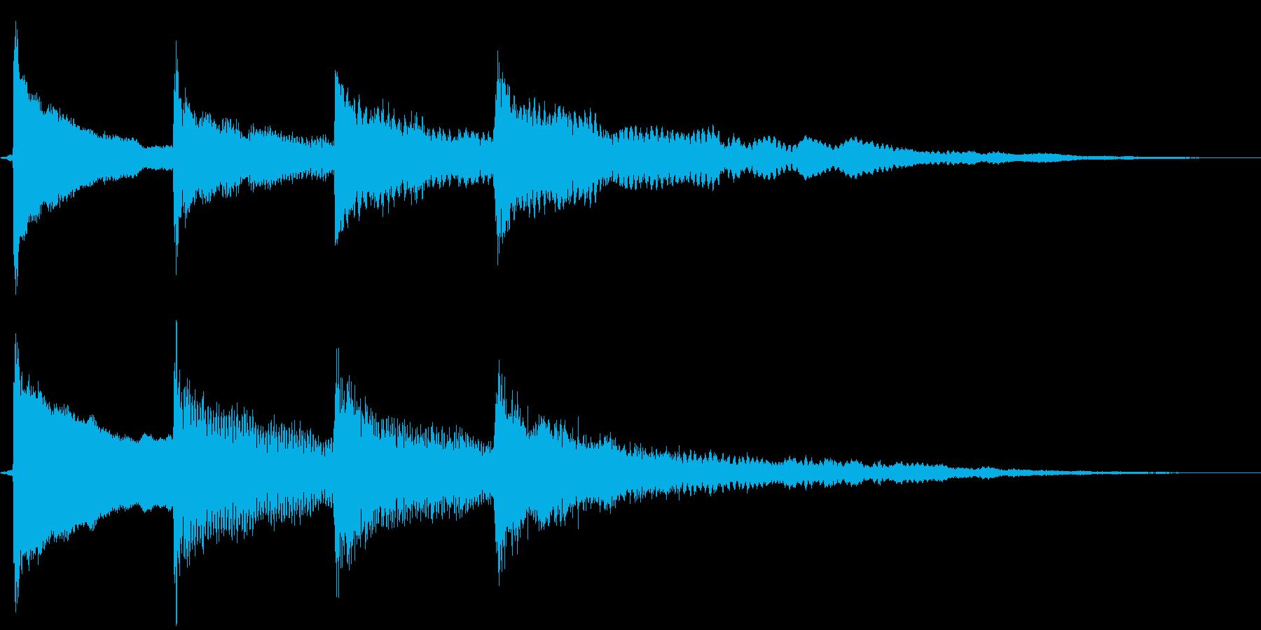 放送終了チャイムの再生済みの波形