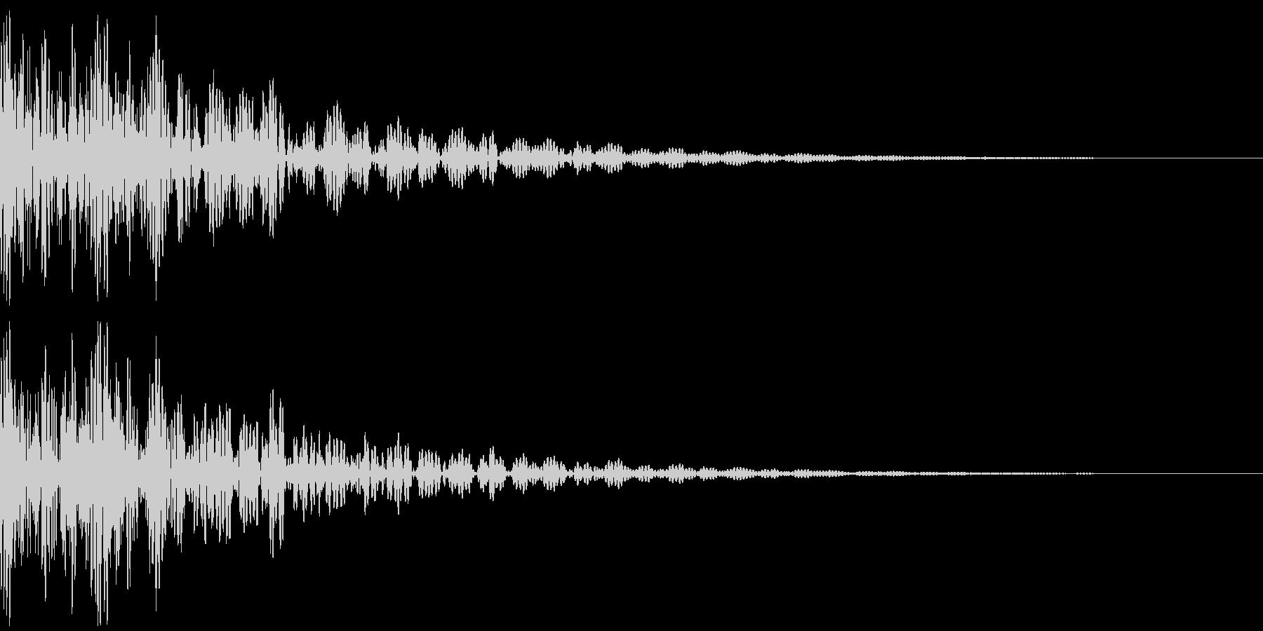太鼓のドドン!という効果音の未再生の波形