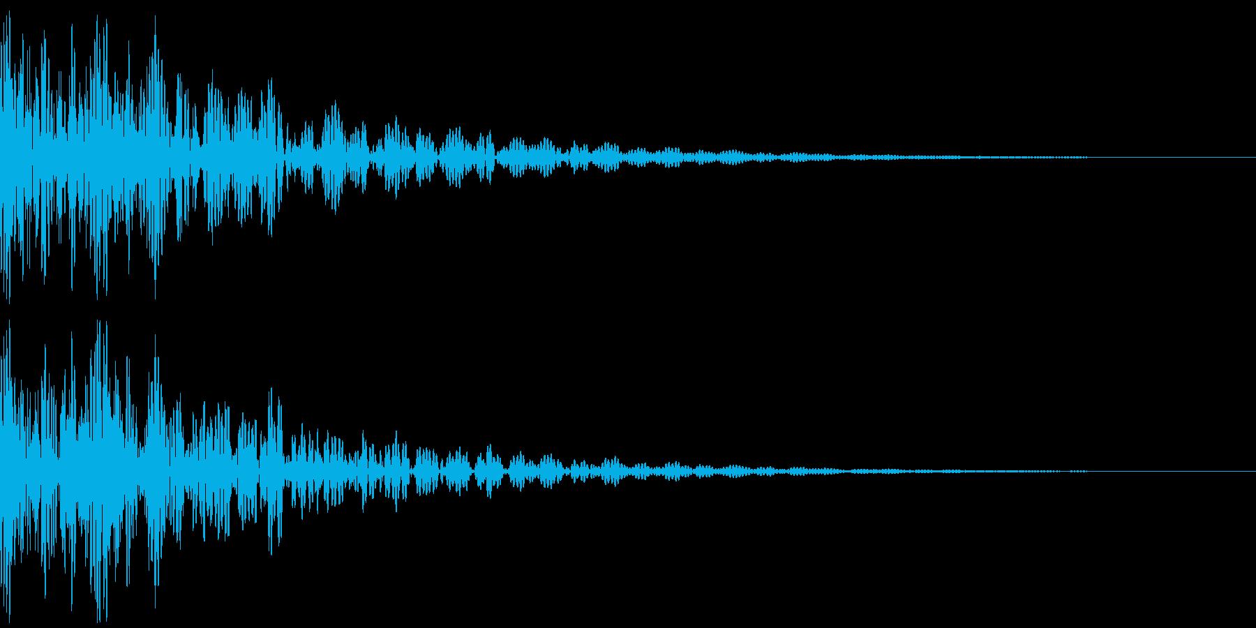 太鼓のドドン!という効果音の再生済みの波形