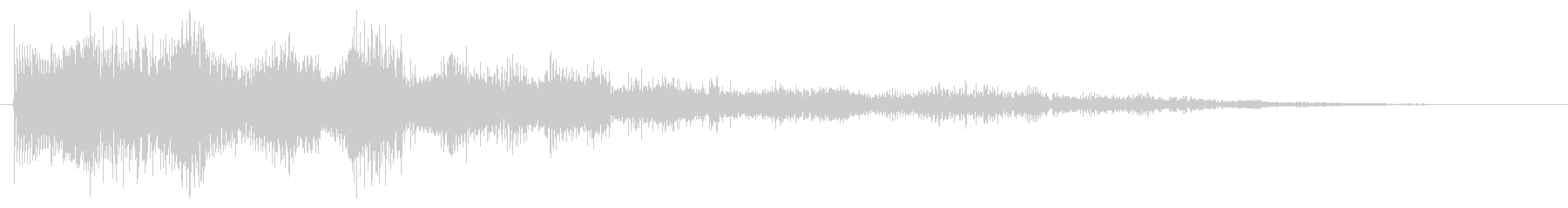 マジカルなセレクト音 決定音 クリック音の未再生の波形