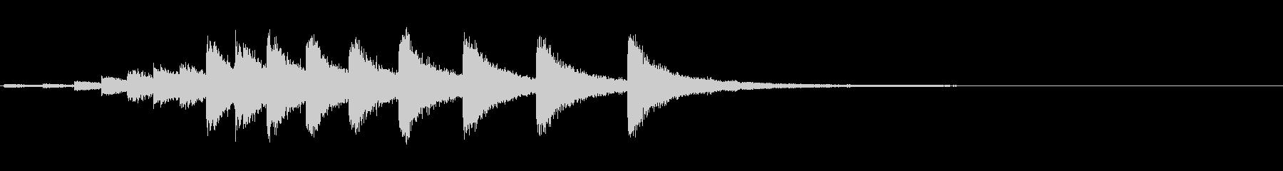 『カンカンカン・・・』韓国ドラの連打音の未再生の波形
