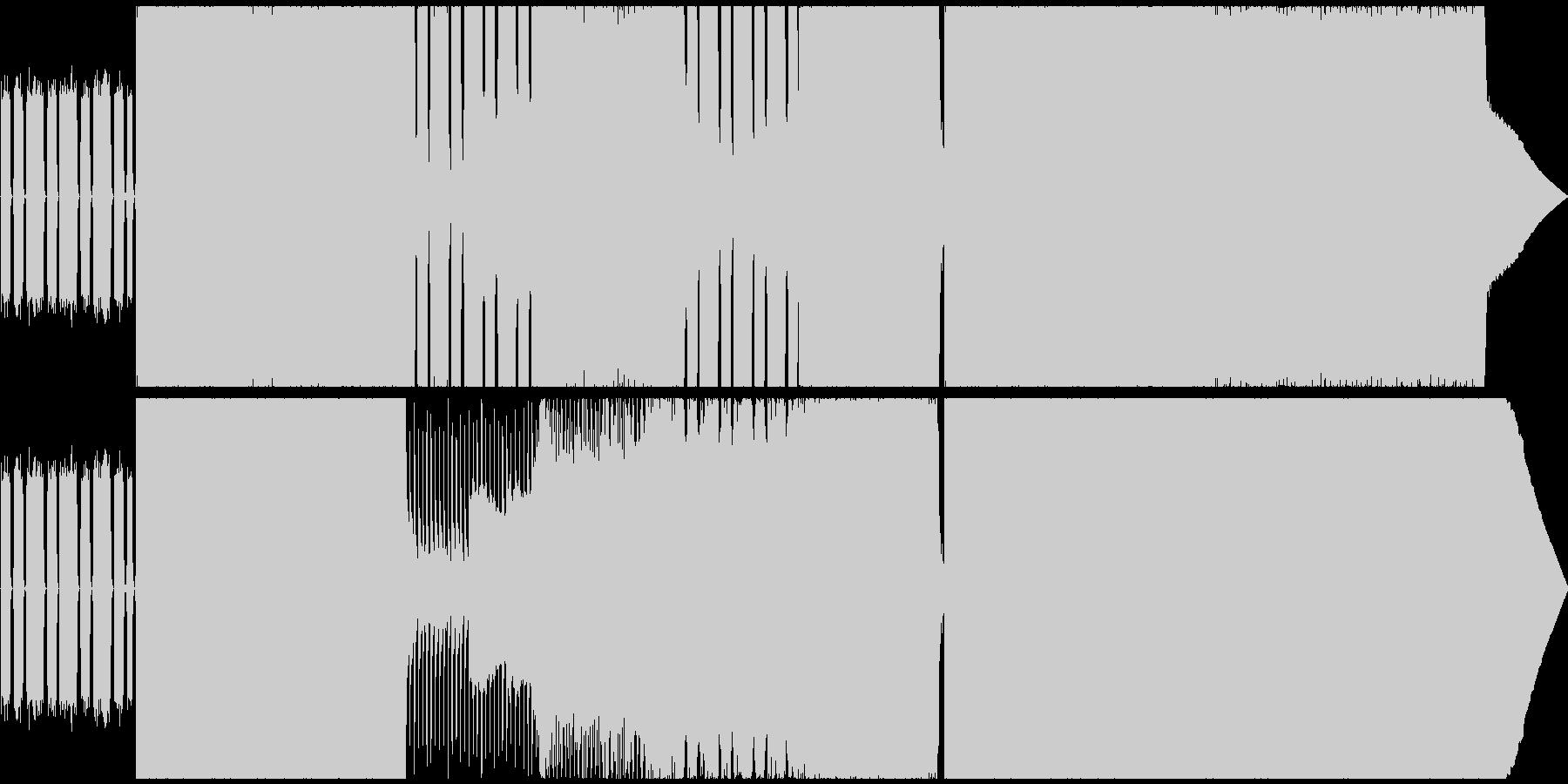 疾走感のあるポップパンク&エモ風インストの未再生の波形