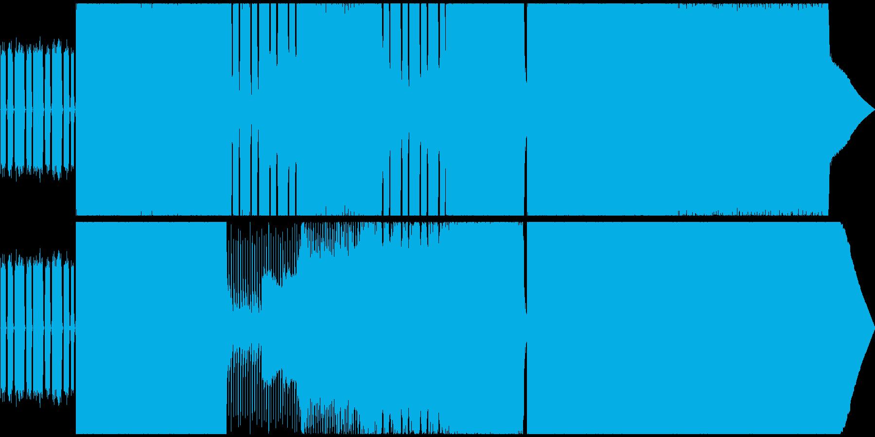 疾走感のあるポップパンク&エモ風インストの再生済みの波形