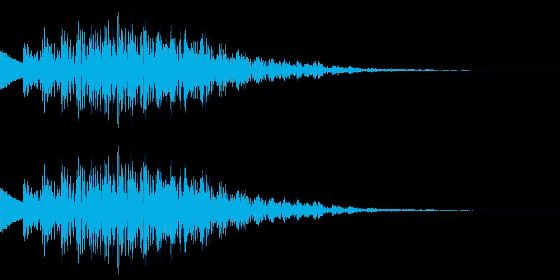 キラキラしたかわいい音です。の再生済みの波形