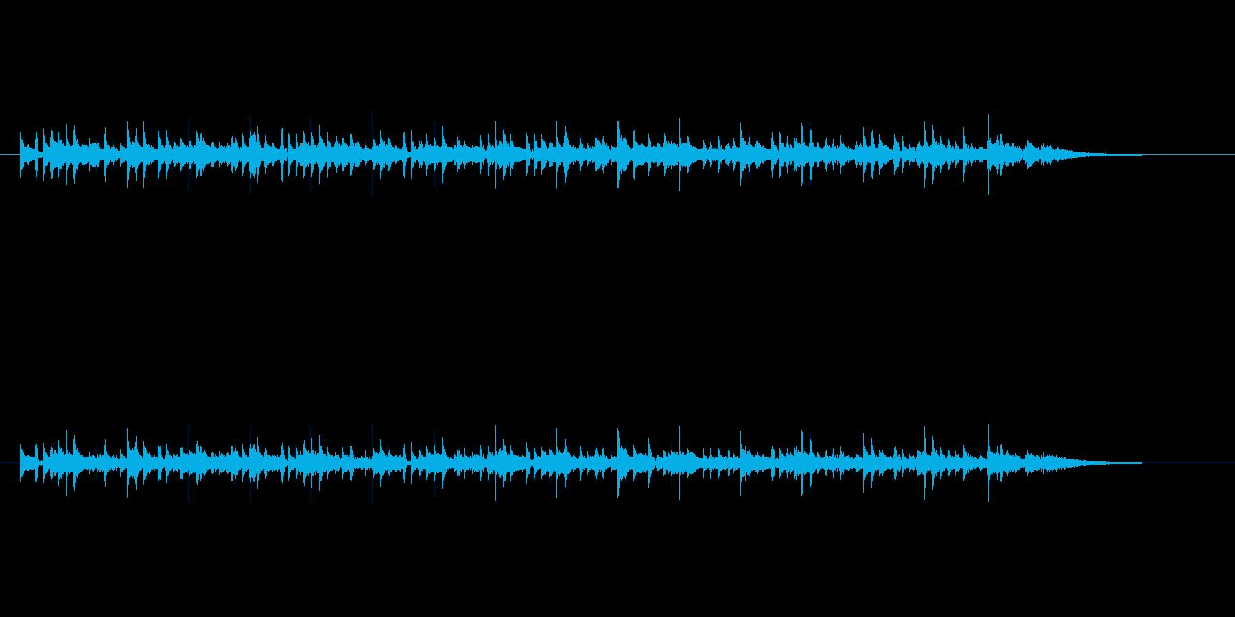 アコースティックな軽いボサノバの再生済みの波形