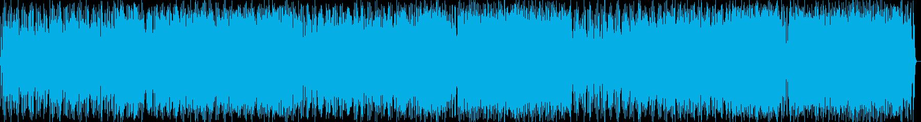 ギターによるにぎやかポップロックの再生済みの波形