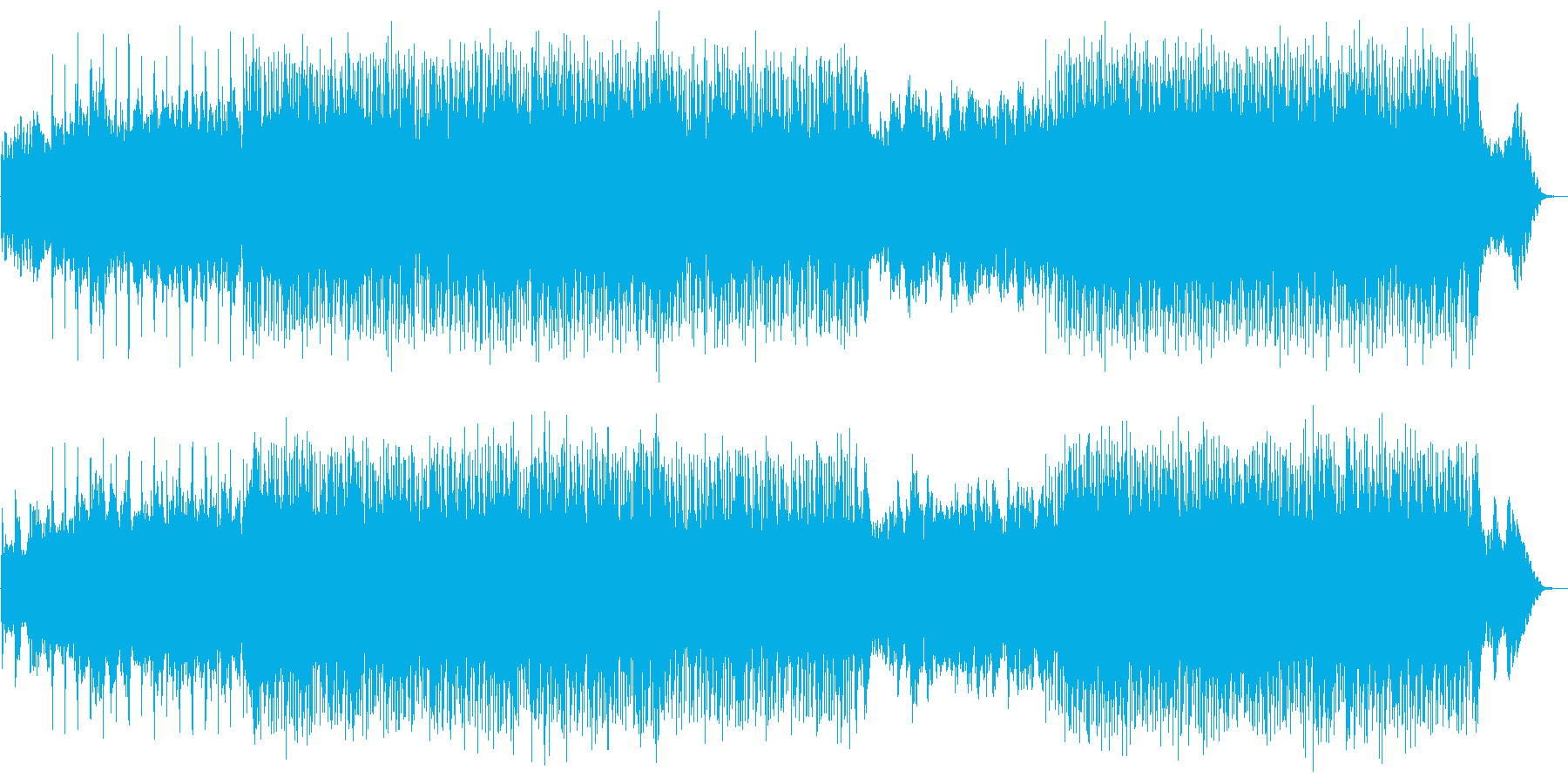 疾走感のあるドラムンベースの再生済みの波形
