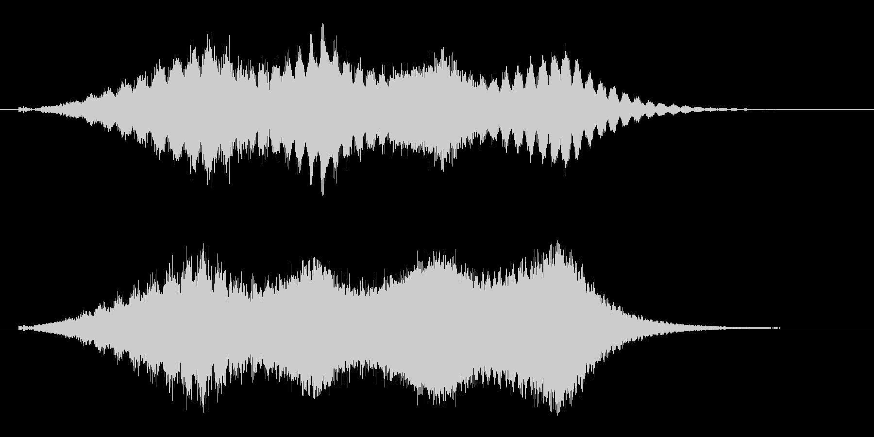 占う 水晶を覗く効果音 タロットカード の未再生の波形