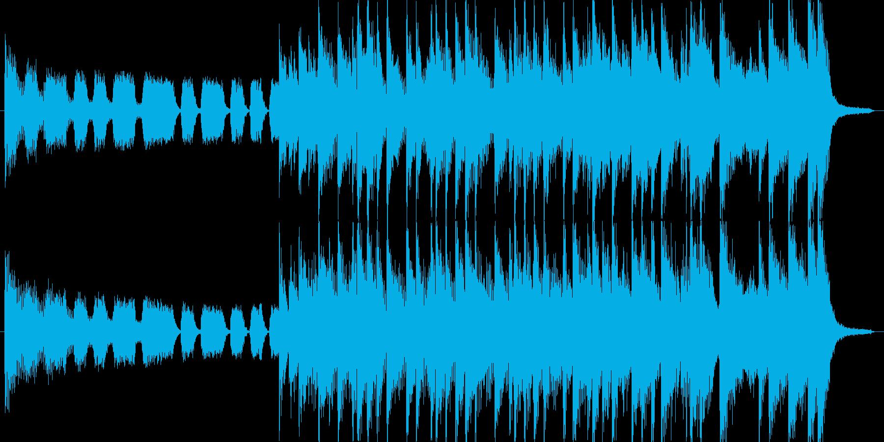 出囃子15秒ロックピアノテイスト音源の再生済みの波形