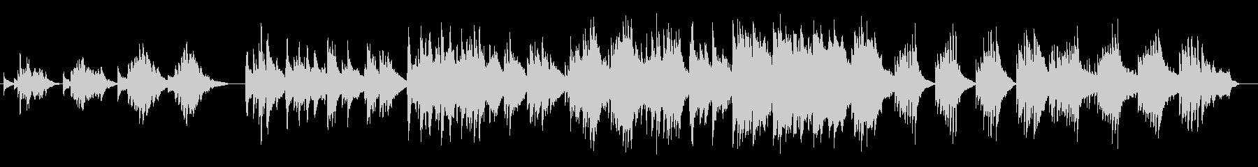お洒落なピアノバラードの未再生の波形