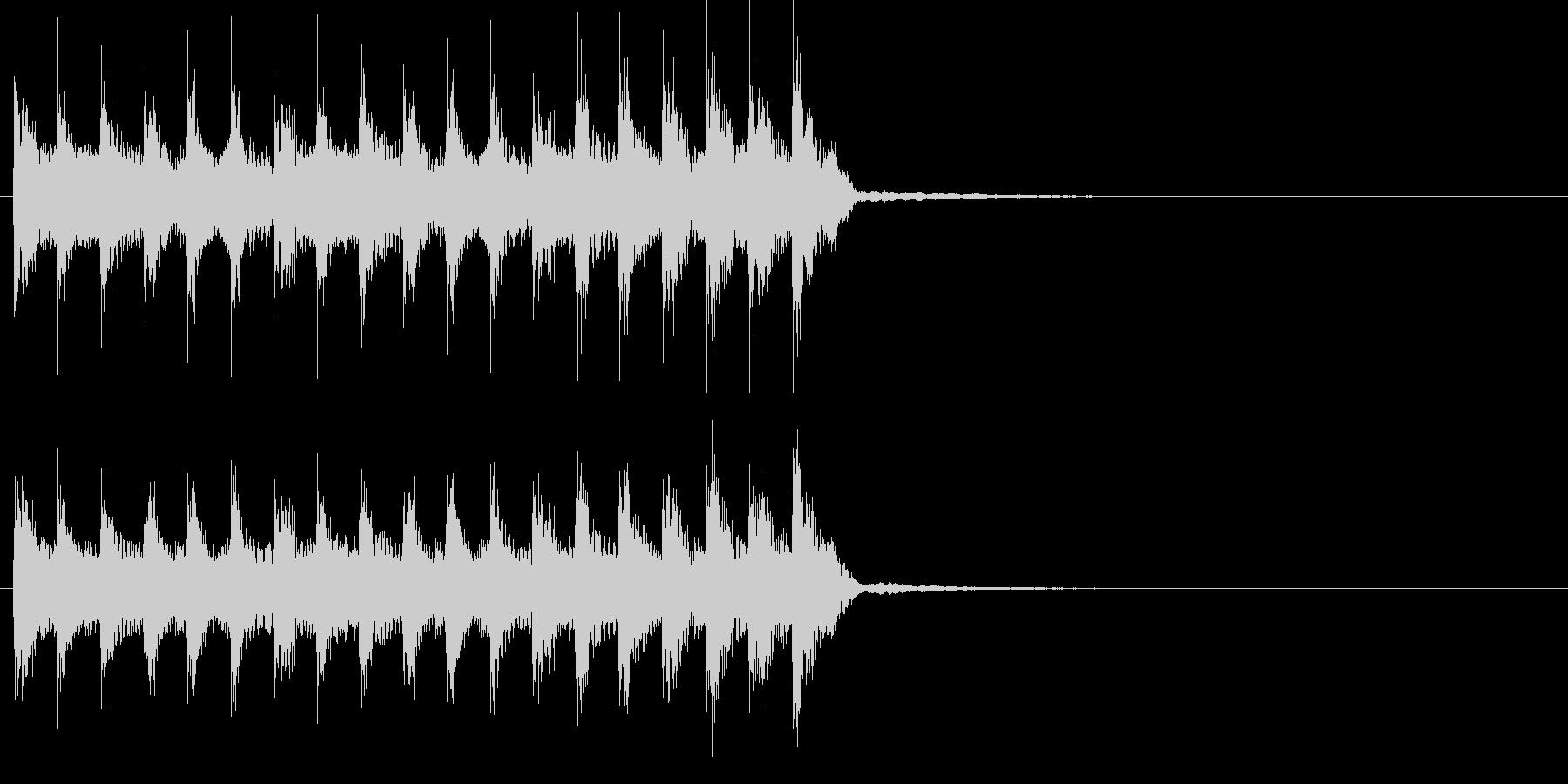尺八などの和楽器によるほのぼの和風ポップの未再生の波形