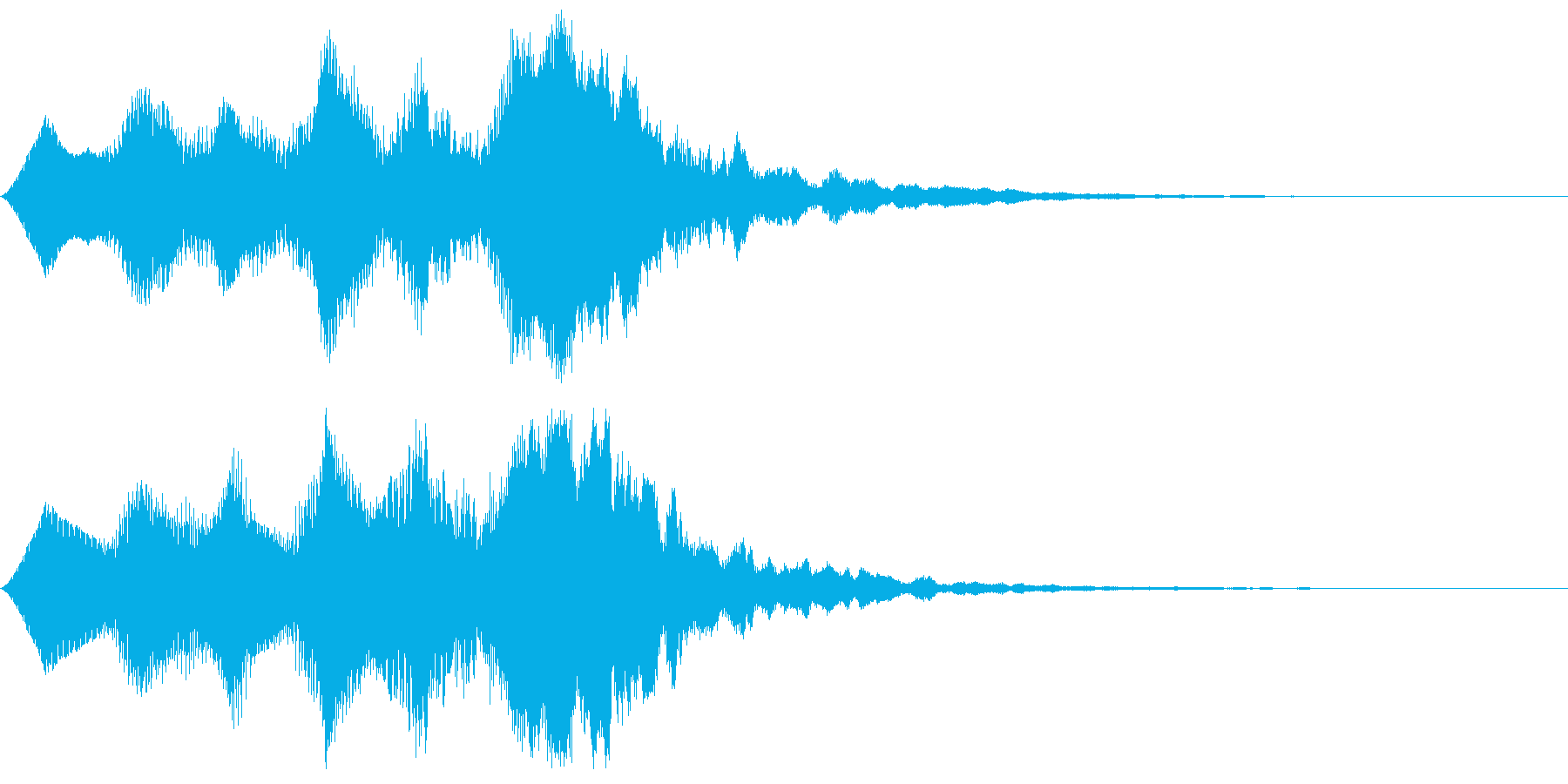 ファンファーレ(バイオリン風)の再生済みの波形
