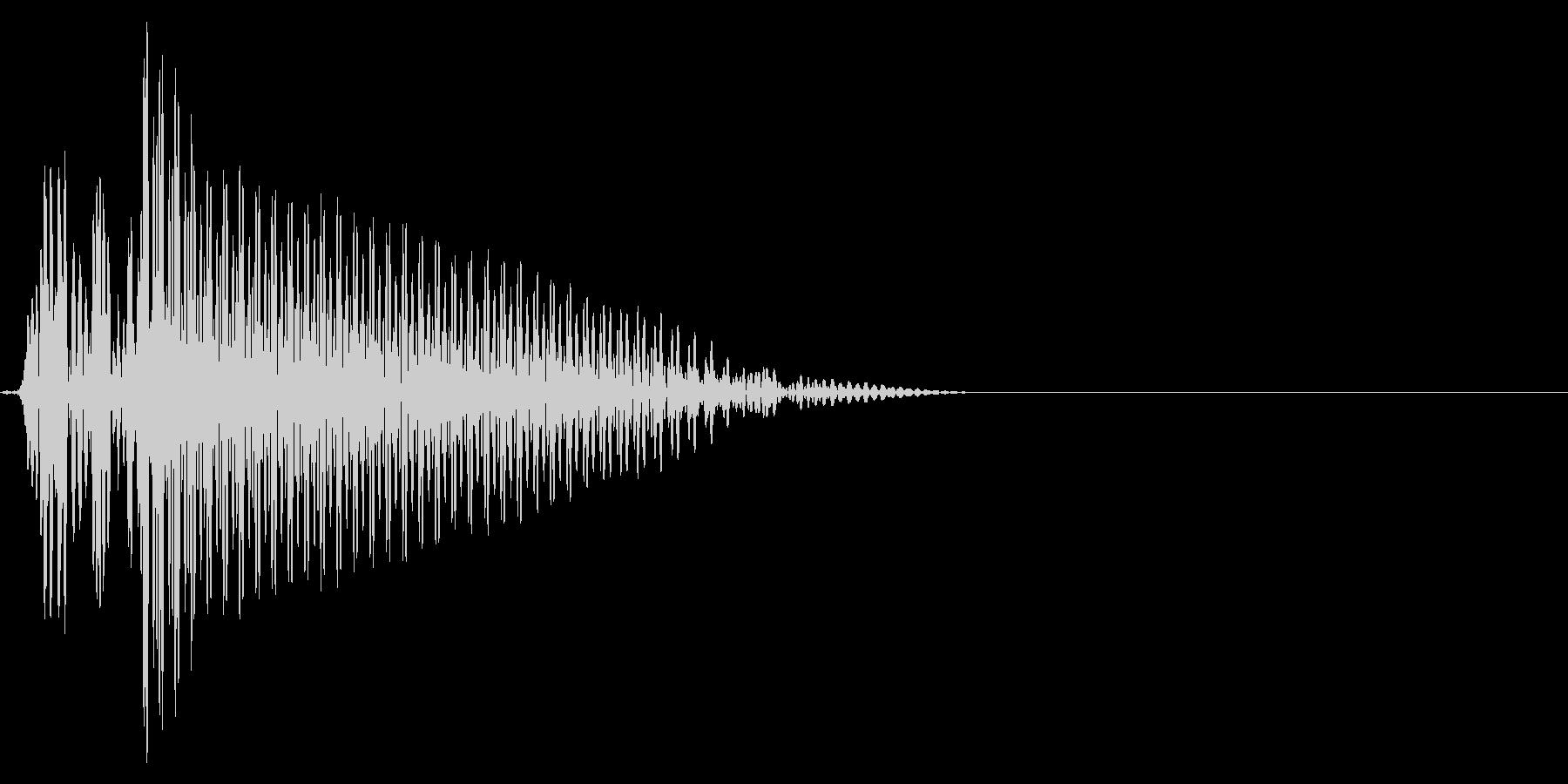 ゲーム掛け声ゾンビ1オー4の未再生の波形