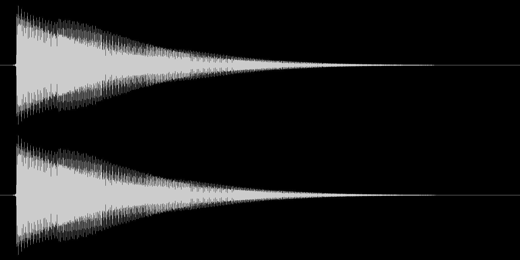 決定/電子音/SF系の未再生の波形