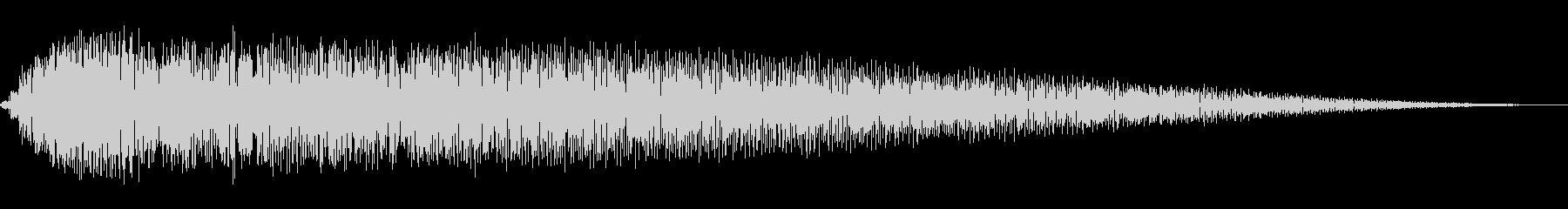 ショット・ビーム発射音#1の未再生の波形