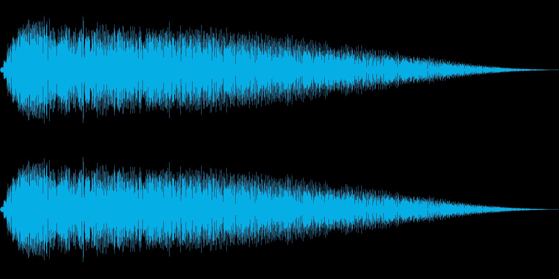 ショット・ビーム発射音#1の再生済みの波形