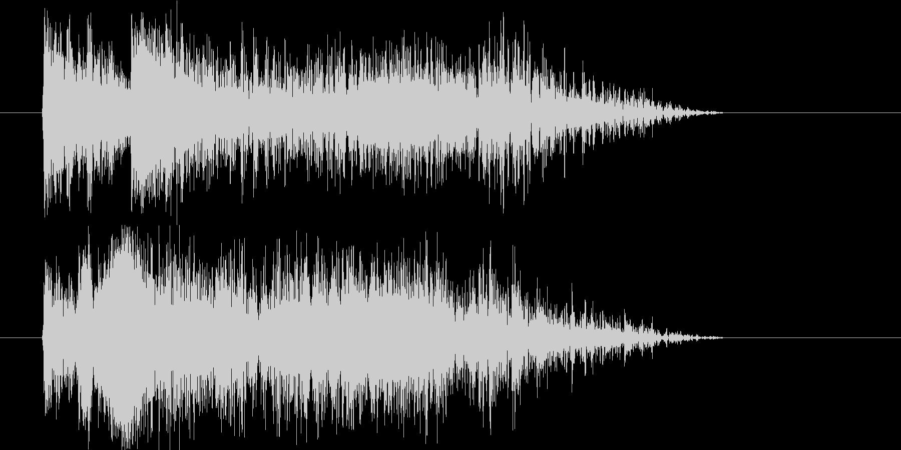 近未来的で激しいジングル、サウンドロゴの未再生の波形