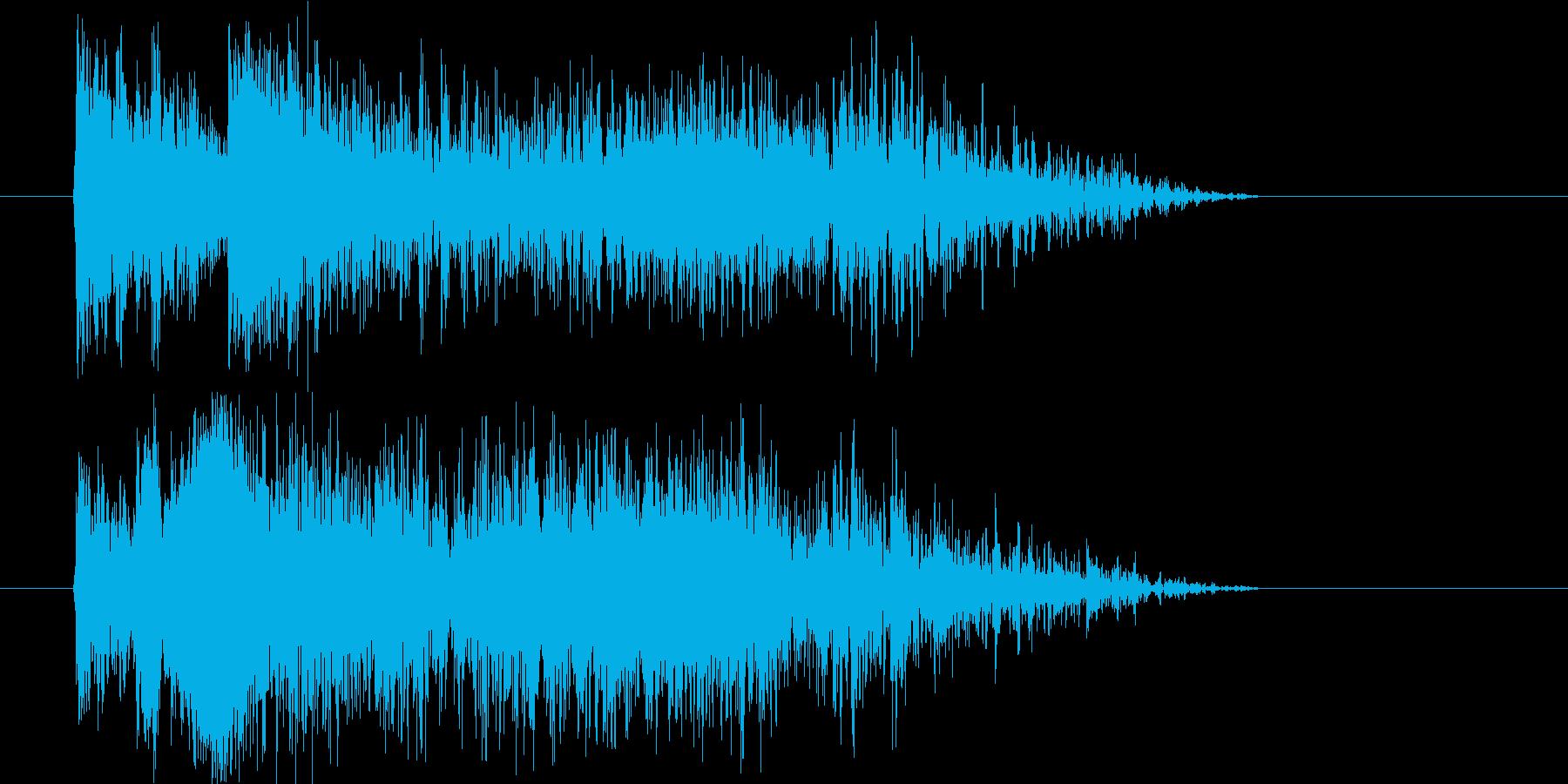 近未来的で激しいジングル、サウンドロゴの再生済みの波形