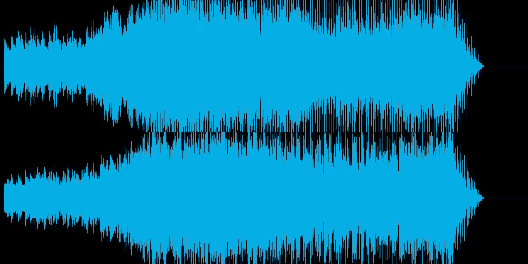 壮大で爽やかなオーケストラの再生済みの波形