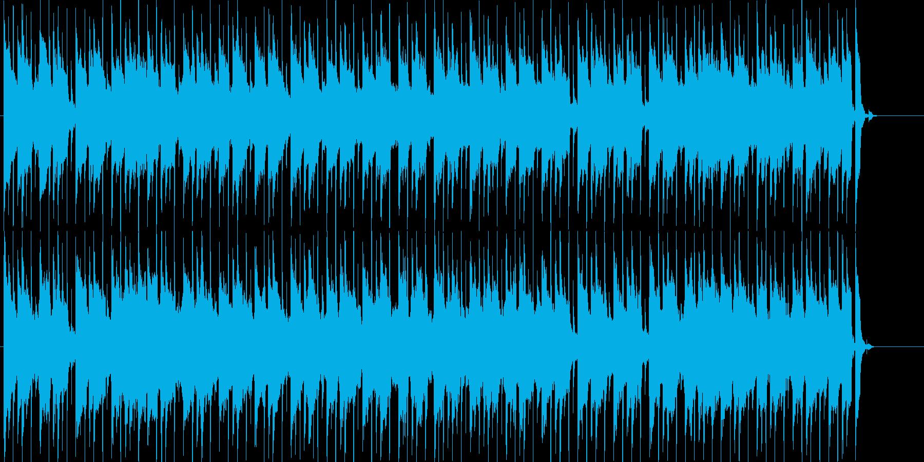 ゲーム等に使える日常系まったりBGMの再生済みの波形
