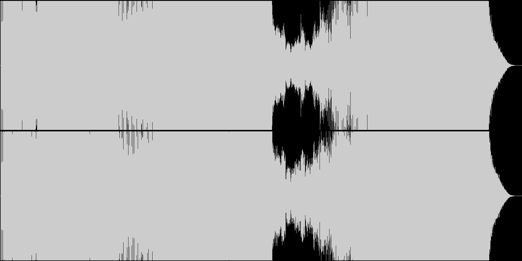動と静の起伏の激しいEDMの未再生の波形