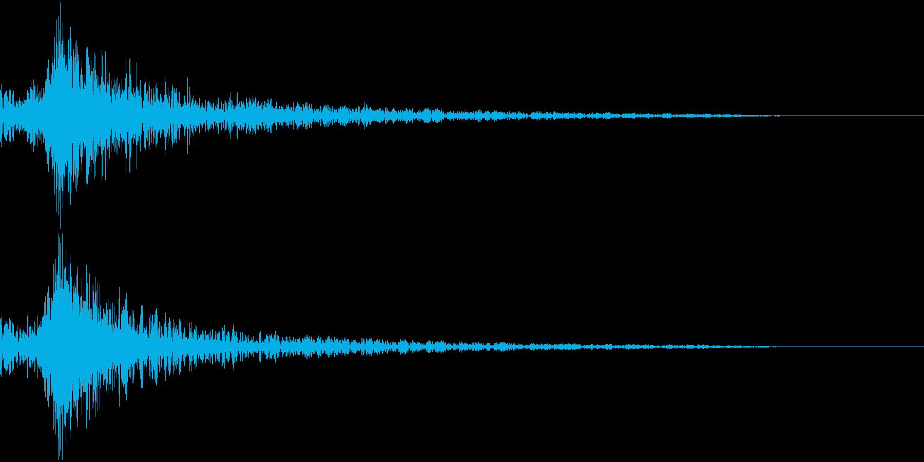 打撃音・爆発音・ヒット5-ヒュードーンッの再生済みの波形