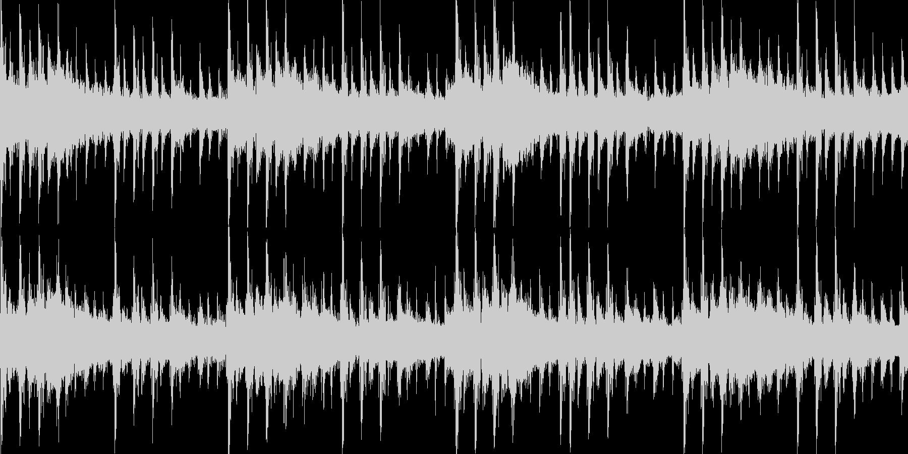メカニカルな雰囲気のテクノジングル_lpの未再生の波形