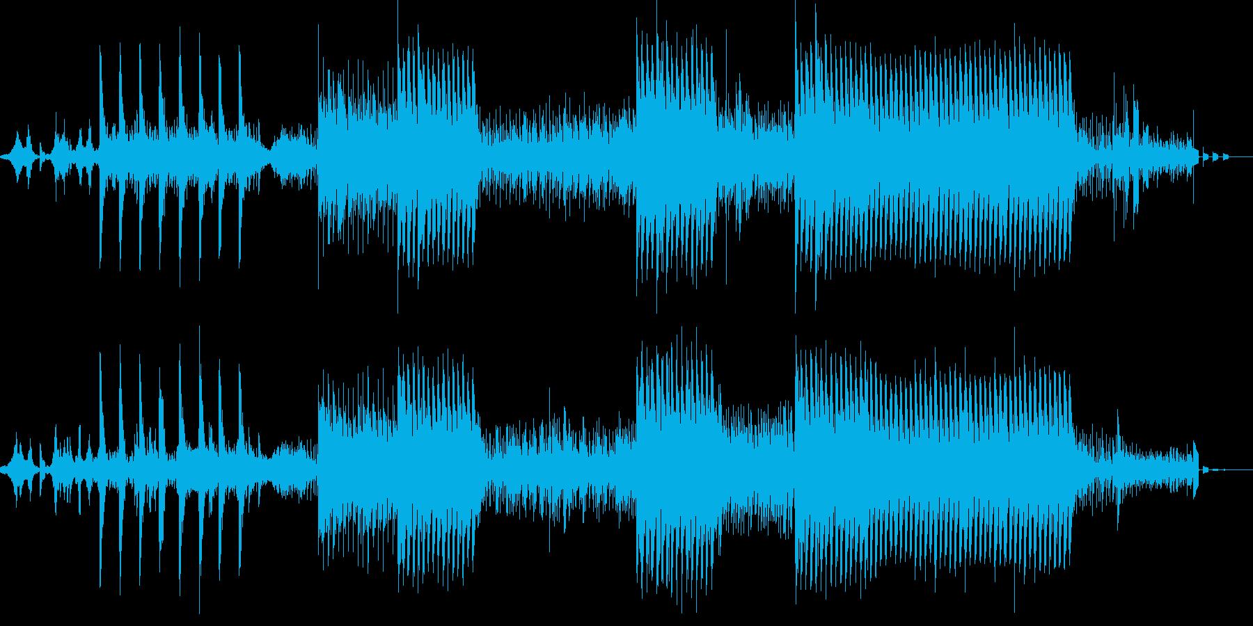 和の音で不思議な感じのBGMの再生済みの波形
