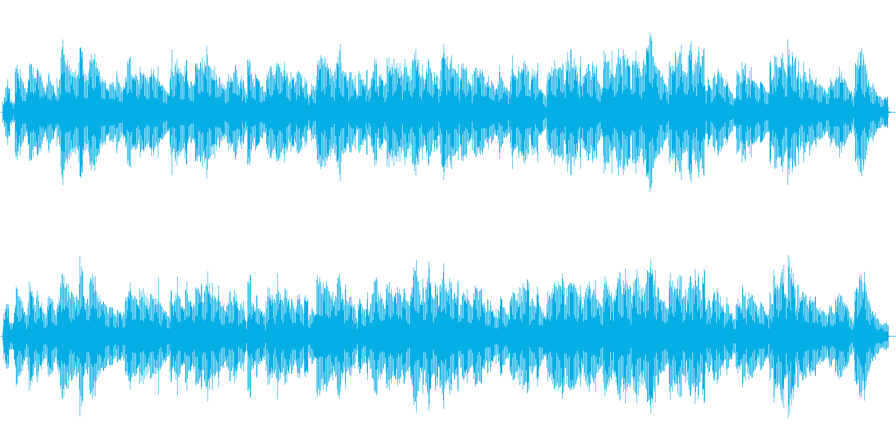 ローズピアノソロによる夜の雰囲気BGMの再生済みの波形
