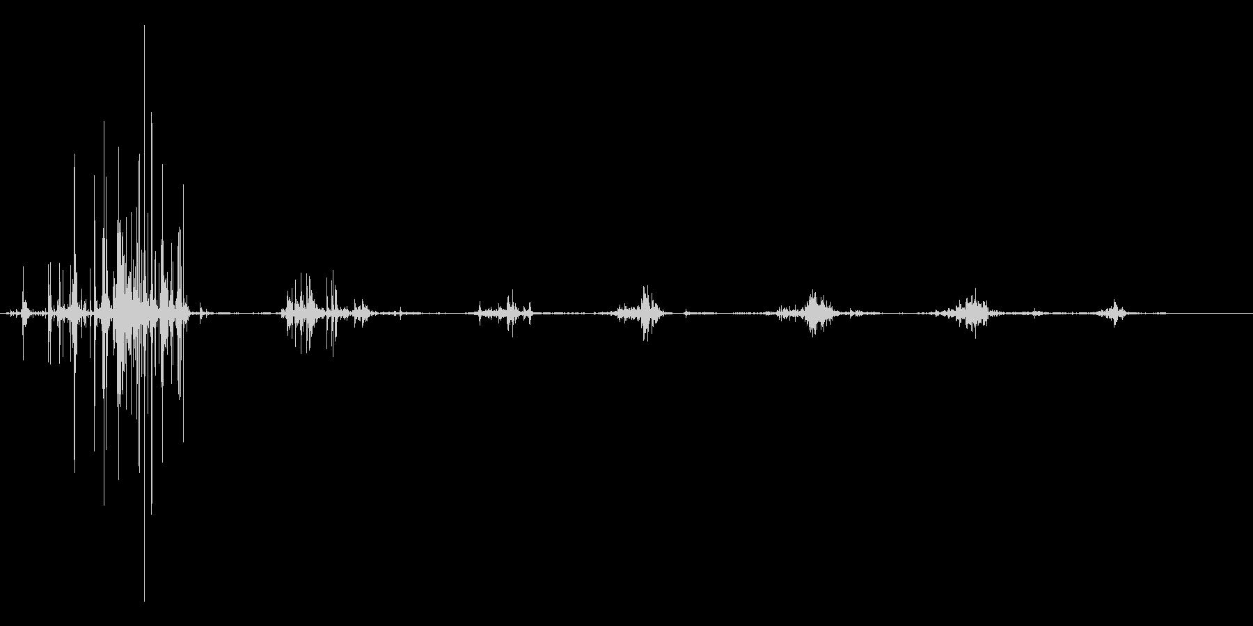 チップス 咀嚼音の未再生の波形