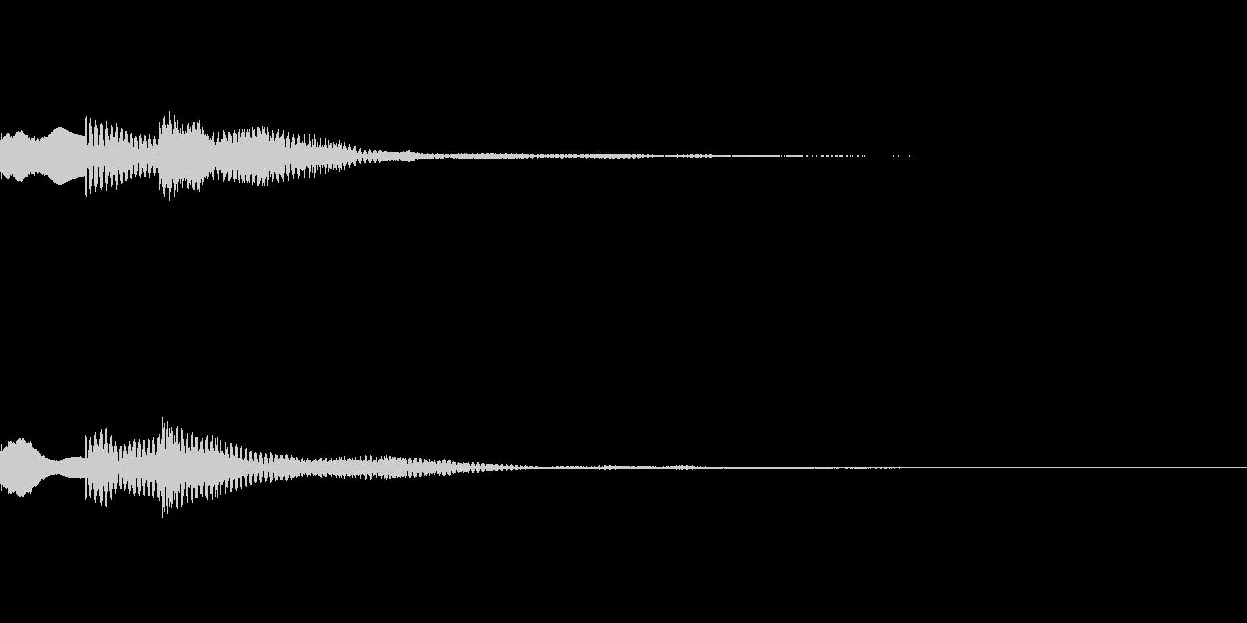 ピロリン(タイトルメニュー_決定01)の未再生の波形