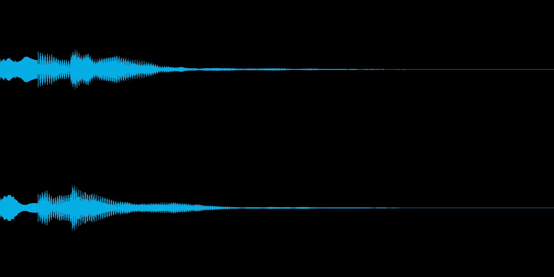 ピロリン(タイトルメニュー_決定01)の再生済みの波形