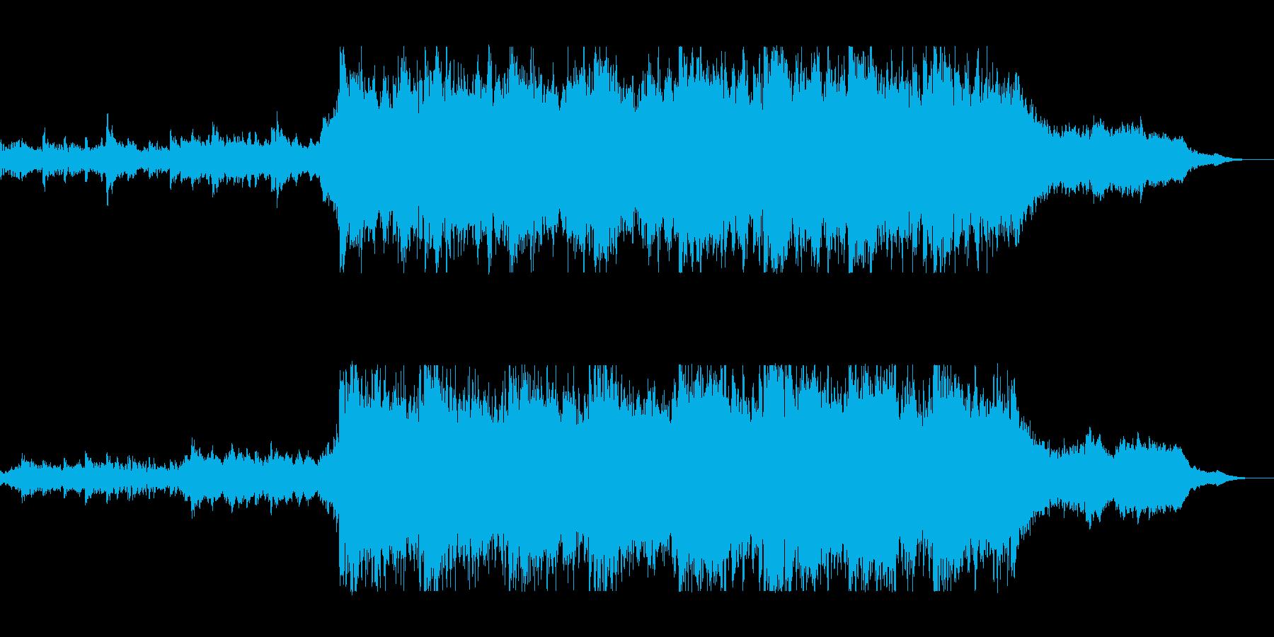 日本的な雰囲気の壮大な曲の再生済みの波形
