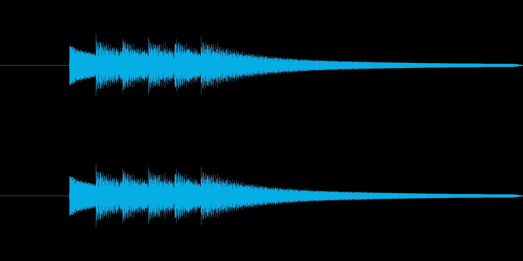 ピンポン、ピンポン、ピンポン、という音の再生済みの波形