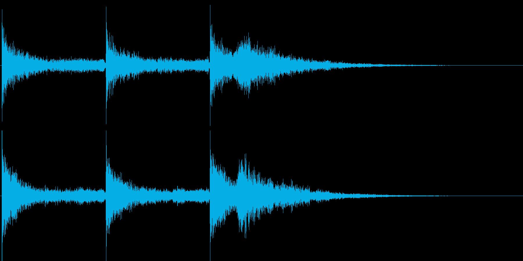 ドーン ヒュー ヒュルヒュルの再生済みの波形