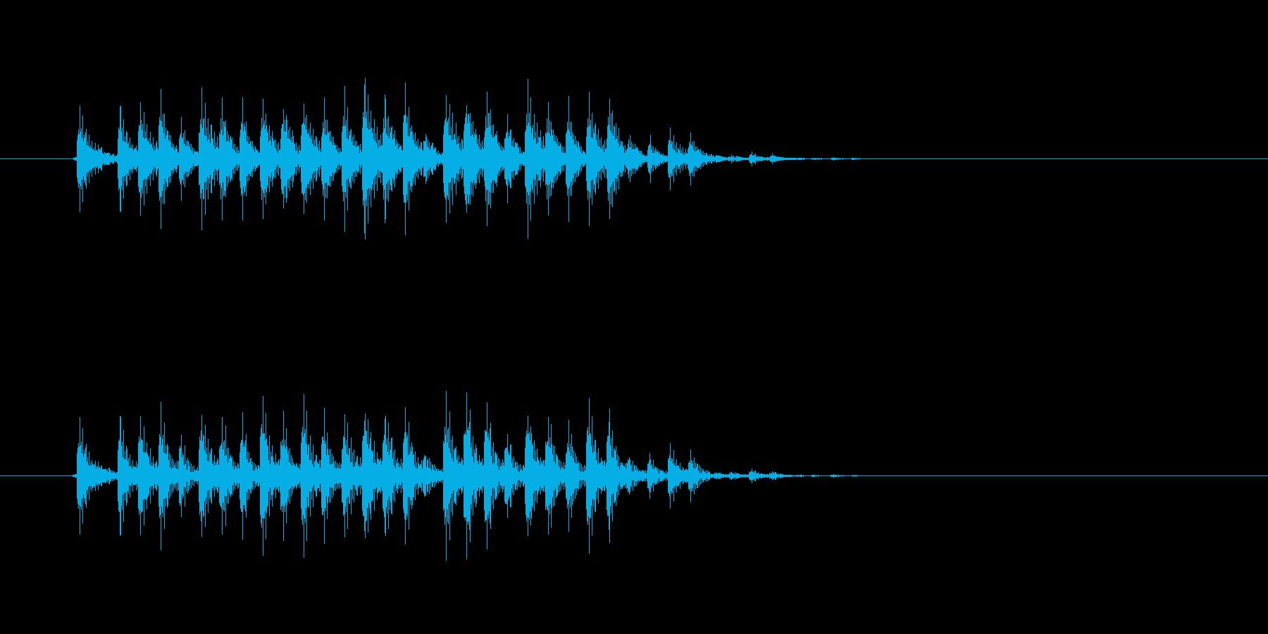 低音のリズムが走り抜けるロックの再生済みの波形