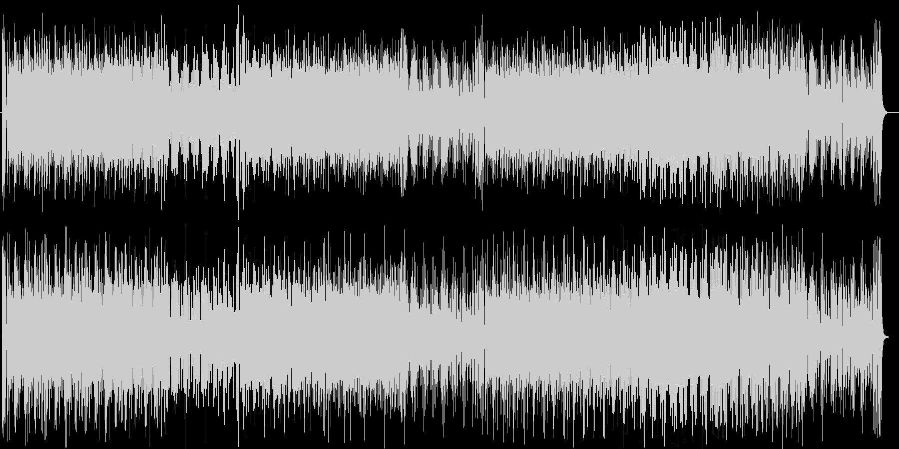 活気ある軽快なミュージックの未再生の波形