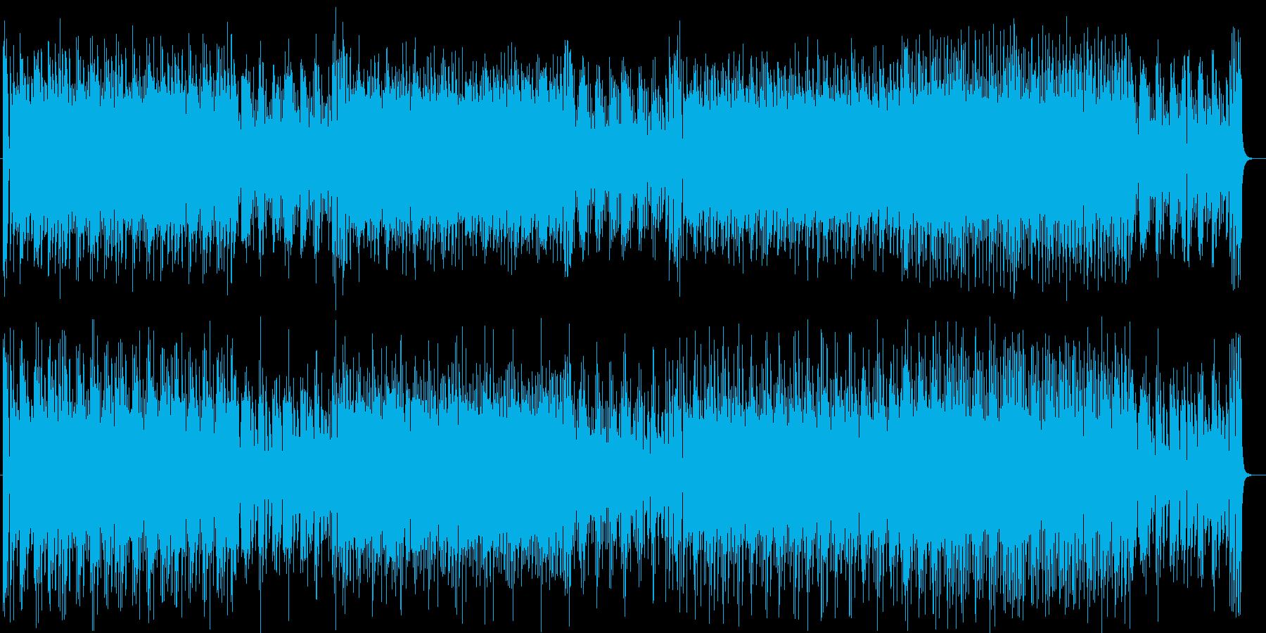活気ある軽快なミュージックの再生済みの波形