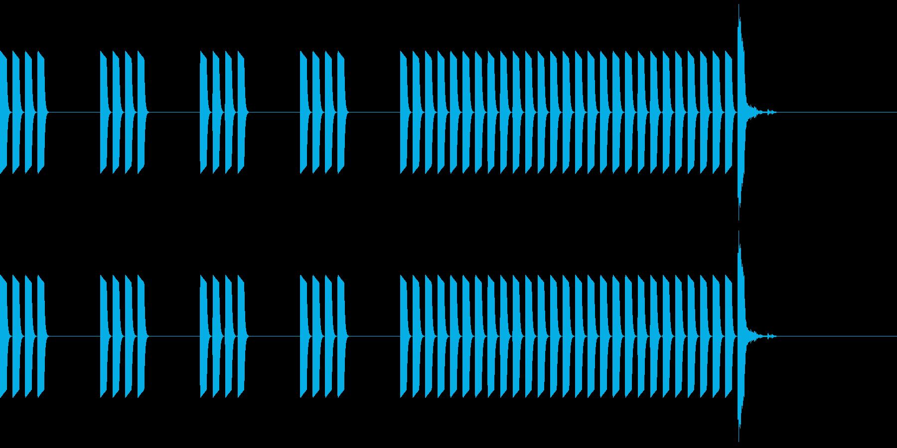 暮らしの音  デジタル目覚ましアラームの再生済みの波形