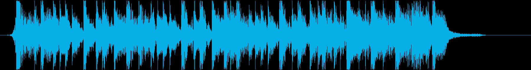 ファンキーなスラップジングル(ハーフ)の再生済みの波形