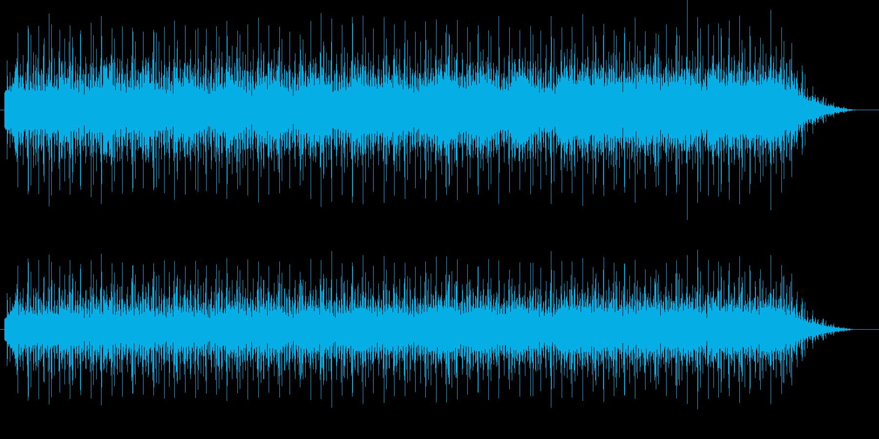 エレキギターがクールでハードなファンクの再生済みの波形